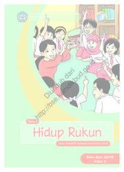 Buku Tema 1 Hidup Rukun (Buku Guru)