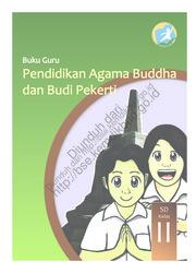 Buku Pendidikan Agama Buddha dan Buku Pekerti Luhur (Buku Guru)