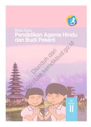 Buku Pendidikan Agama Hindu dan Buku Pekerti Luhur (Buku Guru)