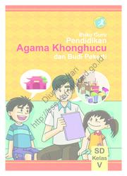 Pendidikan Agama Konghuchu dan Buku Pekerti (Buku Guru) Kelas 5 SD