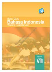 Buku Bahasa Indonesia Wahana Pengetahuan (Buku Siswa)