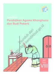 Buku Pendidikan Agama Khonghucu dan Budi Pekerti (Buku Guru)