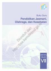 Buku Pendidikan Jasmani, Olahraga, dan Kesehatan (Buku Guru)